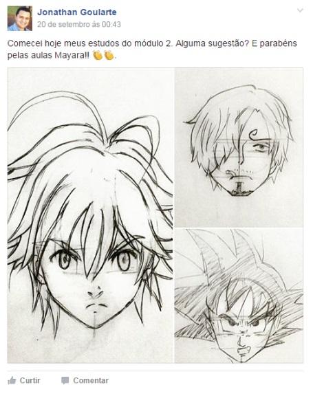 desenhando seus animes favoritos
