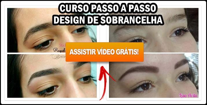 Design de Sobrancelha Curso Passo a Passo em Vídeos + PDF Baixar